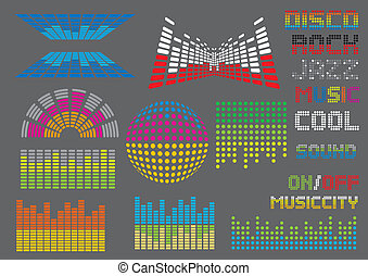 Sound Equalizer - Sound and equalizer set, image is part of...