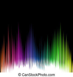 Sound Equalizer Wave Abstract Background.