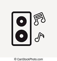 Sound equipment icon