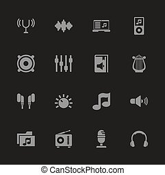 Sound - Flat Vector Icons