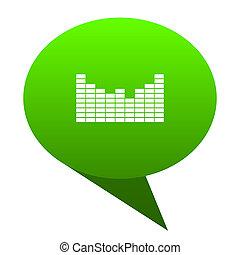 Sound green bubble icon