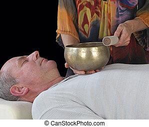 Sound Healer with patient