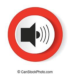 Sound icon . Vector illustration.