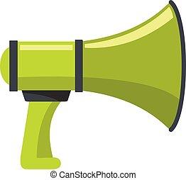 Sound megaphone icon, cartoon style