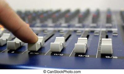 sound mixer board studio