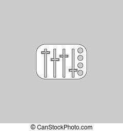 Sound Mixer computer symbol