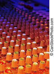 mixer of a digital technology and controlpanel for djs