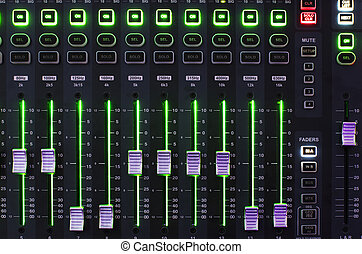 Sound Mixer with Operating Light