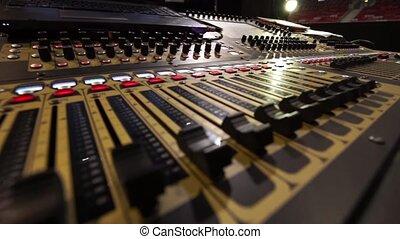 Sound music mixer control panel - Professional audio music...