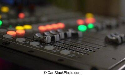Professional sound music mixer control panel