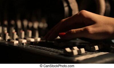 sound music mixer control panel girl