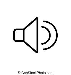 Sound outline icon. Symbol, logo illustration for mobile concept and web design.