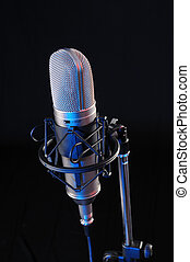 Sound recording - Studio microphone for sound recording on...