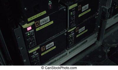 Sound recording studio. - Sound recording equipment in...