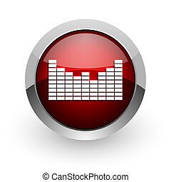 sound red circle web glossy icon