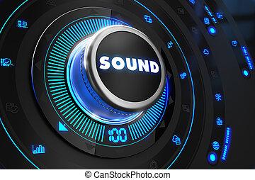 Sound Regulator on Black Control Console. - Sound Regulator...