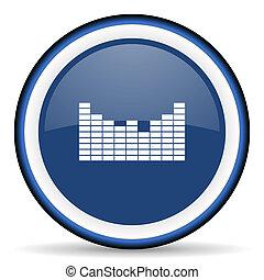 sound round glossy icon, modern design web element