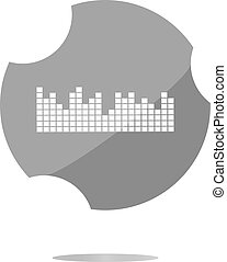sound round web glossy icon . Trendy flat style sign isolated on white background