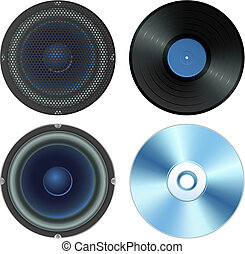 sound set - Vector illustration - sound set (isolated)