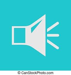 Sound sign symbol. - Loud speaker icon. Speaker volume sign...