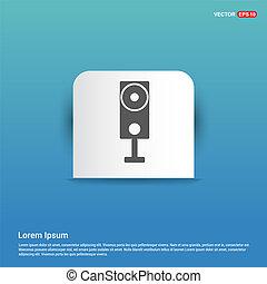 Sound speaker icon  - Blue Sticker button