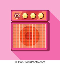 Sound speaker icon, flat style