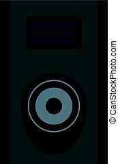 Sound speaker icon isolated