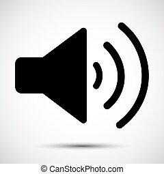 Sound Speaker Icon on white background