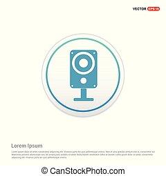 Sound speaker icon - white circle button