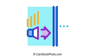 sound speaker operation Icon Animation. color sound speaker operation animated icon on white background