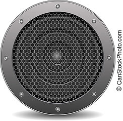 Sound speaker, vector eps10 illustration