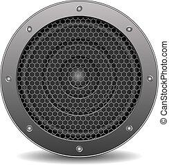 Sound speaker, vector eps10 illustration