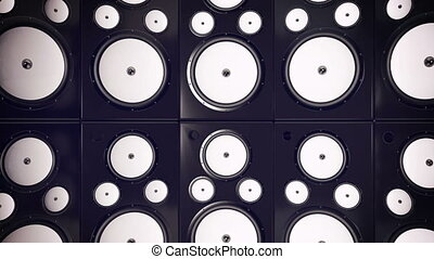 """""""Sound speakers background. Audio stereo system. 3d"""""""