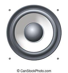 Sound speakers dynamics.