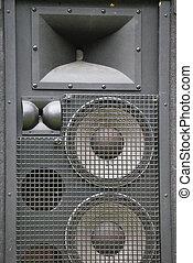 Sound system speaker.