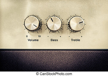 Sound volume controls in vintage style - Detail of sound ...