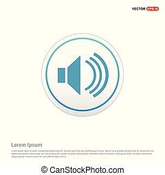 Sound volume icon - white circle button
