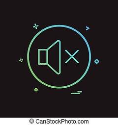 sound volume off icon vector design