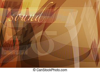 Sound Wave - abstract illustration of sound waves