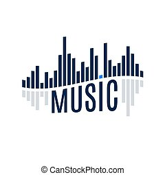 Sound Wave - Abstract Sound Icon Music Wave Equalizer with...