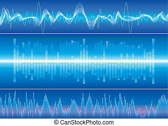 Sound Wave Background - Sound wave background, vector...