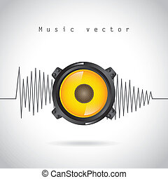 sound wave design over gray background vector illustration