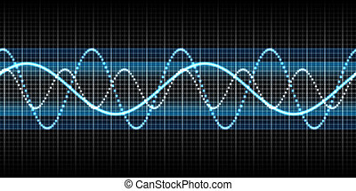 sound wave - An illustration of a nice abstract seamless...
