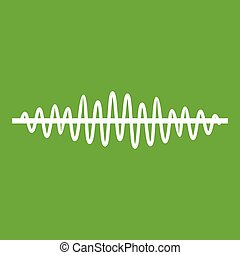 Sound wave icon green