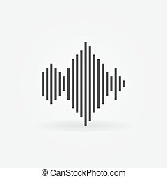 Sound wave icon or logo