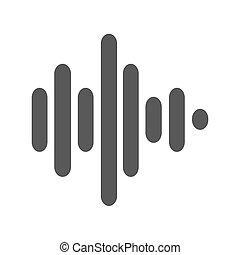 Sound wave icon  simple