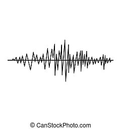 Sound wave icon, simple style - Sound wave icon in simple...