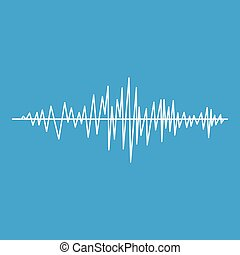 Sound wave icon white
