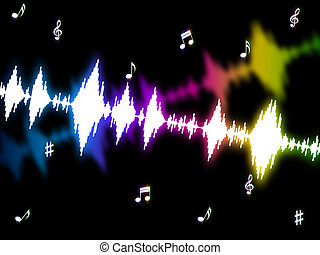 Sound Wave Means Soundwaves Graph And Acoustic - Sound Wave...