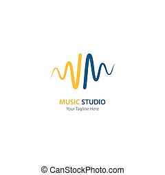 sound wave music logo